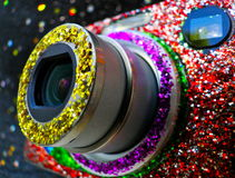 Glitter Camera. royalty free stock images