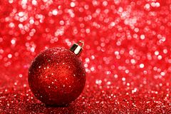 Glitter christmas ball Stock Photography