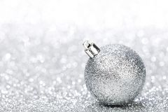 Glitter christmas ball Royalty Free Stock Images