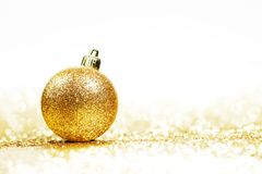 Glitter christmas ball Stock Photo