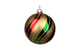 Glitter christmas ball isolated on white background Royalty Free Stock Images