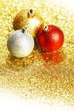 Glitter christmas balls Royalty Free Stock Photos