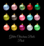 Glitter Christmas Balls Royalty Free Stock Photo