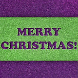 Glitter Christmas card Stock Photography