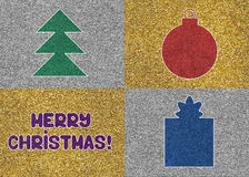 Glitter Christmas card Stock Images