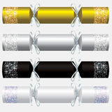 Glitter Christmas crackers. In vector format Stock Image