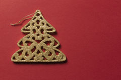 Glitter christmas decoration Royalty Free Stock Photography