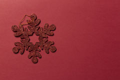 Glitter christmas decoration Stock Images