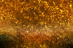 Glitter Christmas and New Year bokeh Stock Images