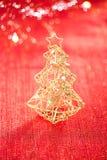 Glitter christmas tree decoration Stock Image