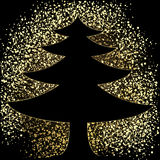Glitter christmas tree Stock Images