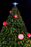 Glitter Christmas Tree Royalty Free Stock Images
