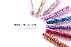 Glitter. Color full glitter on white Royalty Free Stock Photo