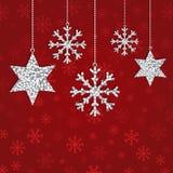 Glitter decorations Stock Photography
