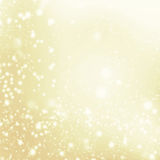 Glitter Defocused Background With Blinking Stars and snowflakes. Stock Photography