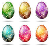 Glitter easter eggs  Stock Photo
