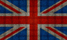 Glitter effect Union Jack UK flag Stock Image