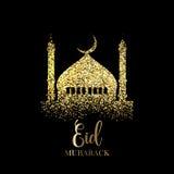 Glitter Eid Mubarak background Royalty Free Stock Photo