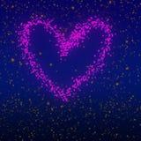 Glitter embossed heart design. Valentine`s day theme Artwork. vector illustration