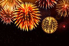 Glitter fireworks for festive sparkle design Royalty Free Stock Photo
