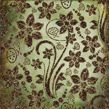 Glitter floral fabric Stock Photos