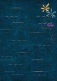 Glitter flowers on cracked damask background Stock Photography