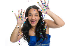Glitter Girl Royalty Free Stock Photos