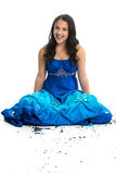 Glitter Girl. Teenage girl in prom dress with glitter Stock Photography