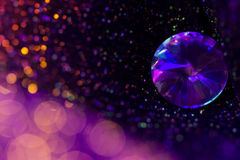 Glitter and glow soft multi colored  bokeh shining with big natu Royalty Free Stock Photography