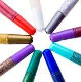 Glitter glue Stock Images