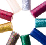 Glitter glue Royalty Free Stock Photo