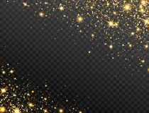 Free Glitter Gold Background. Bright Particles Effect. Star Dust On Transparent Backdrop. Sparkling Texture. Christmas Luxury Royalty Free Stock Photos - 186283298