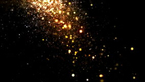 Glitter Gold Falling stock footage