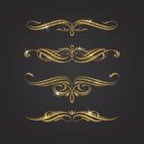 Glitter gold flourishes Stock Photography