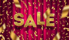 Free Glitter Gold Grand Sale Sign Stock Photo - 93677840