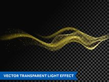Light line gold swirl effect. Vector glitter light fire flare trace. Glitter gold wave line. Vector glittering light flare trace. Magic sparkle swirl trail or Stock Photo
