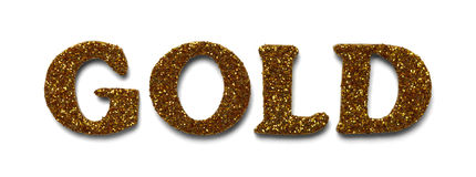 Glitter Gold Stock Photos