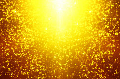 Glitter of golden  christmas lighting background Royalty Free Stock Images