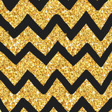 Glitter Golden Pattern royalty free illustration