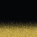 Glitter golden seamless texture. Stock Photography