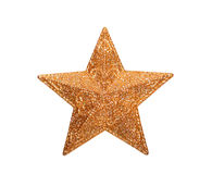 Glitter golden star Stock Image