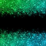 Glitter with green blue color effect on black background. Vector Royalty Free Stock Photography
