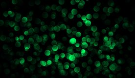 Glitter green bokeh vintage lights background. Merry Christmas and Happy New year background texture overlays stock illustration