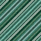 Glitter green seamless pattern with diagonal stripe stock illustration