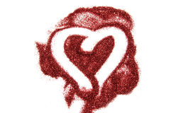 Glitter heart Royalty Free Stock Photography