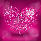 Glitter heart Royalty Free Stock Photo