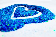 Glitter Heart 1 royalty free stock images