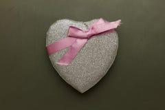 Glitter heart decor Stock Photography