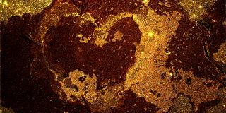 Glitter heart textured background stock photography