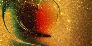 Glitter heart textured background stock images